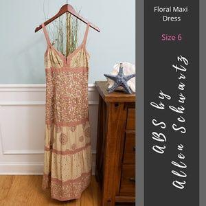 ABS by Allen Schwartz   Floral Maxi Dress